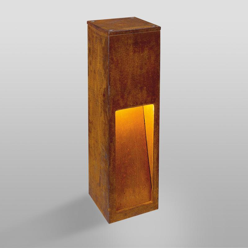 rusty slot 50 corten pullert slv designerlamper hos s lger vi kvalitetsbelysning. Black Bedroom Furniture Sets. Home Design Ideas