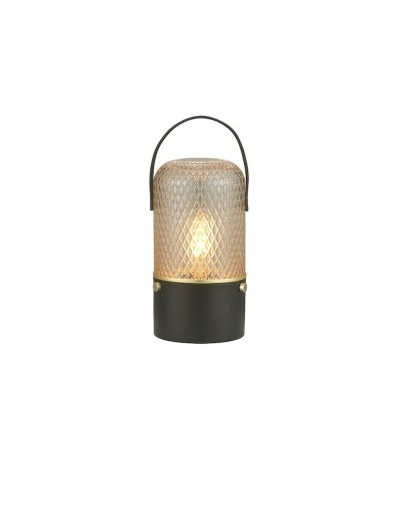 Amber bordlampe smoke fra halo-design