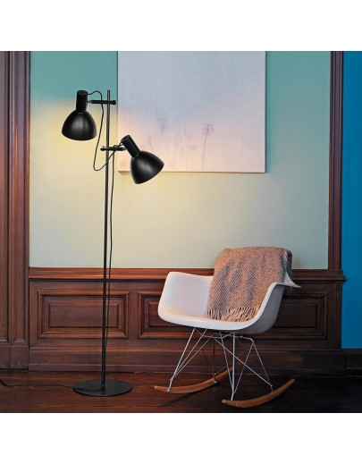 baltimore sort gulvlampe fra halo-design