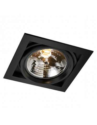 Qana carre QR111 sort downlight Light-point (Restparti)