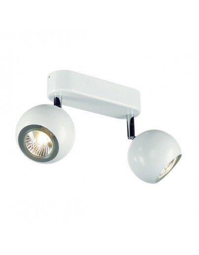 Light Eye double væg loftlampe hvid slv