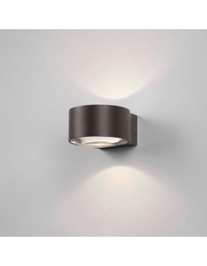Orbit sort LED udendørsvæglampe Light-Point