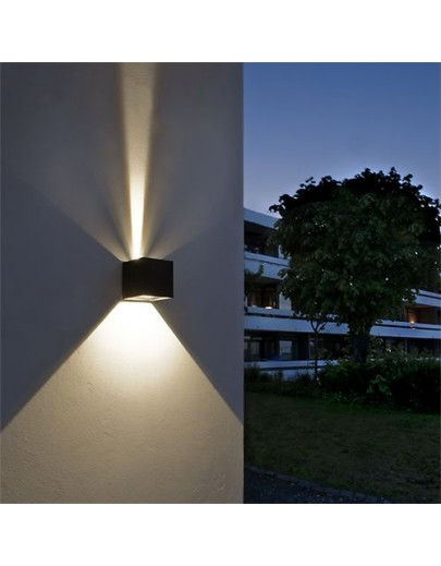 Cube LED udendørs væglampe Light-point