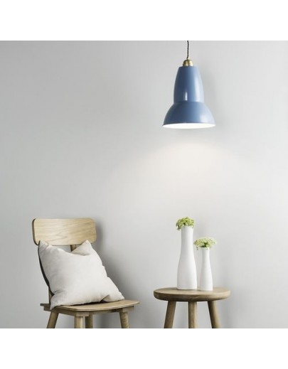 Giant 1227 brass maxi lysegrå anglepoise pendel