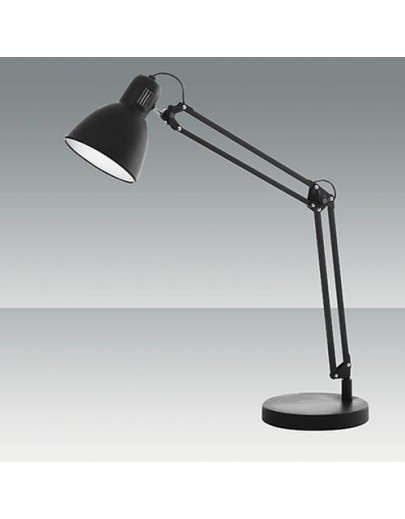 Lisetta sort bordlampe fabas luce