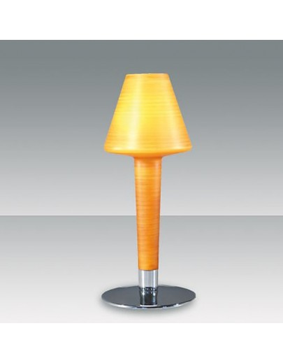 Phil gul stribet bordlampe fabas luce