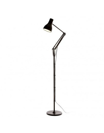 Type 75 LED sort anglepoise gulvlampe